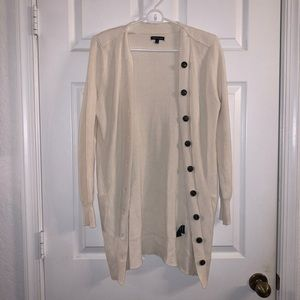 Who What Wear Cream Button Down Sweater- Size S